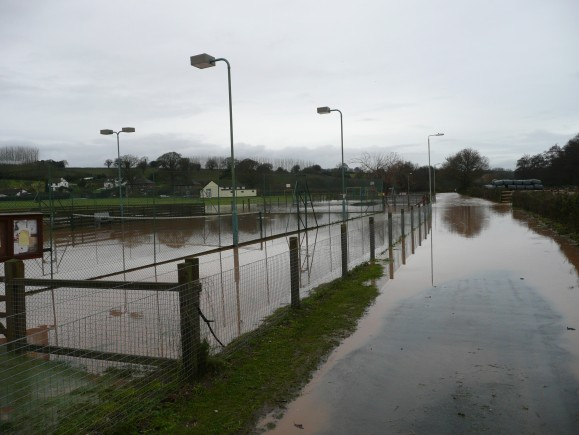 The courts were flooded twice in 6 weeks for the first time in their history