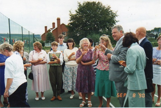 Opening of the Tennis Court by Tom Fraser