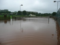 Tennis courts flooded July 2012