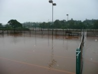 Tennis court flooding July 2012