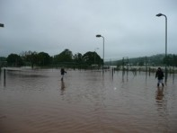 Tennis court flood July 2012